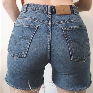 LEVIS Vintage Orange Tab Shorts